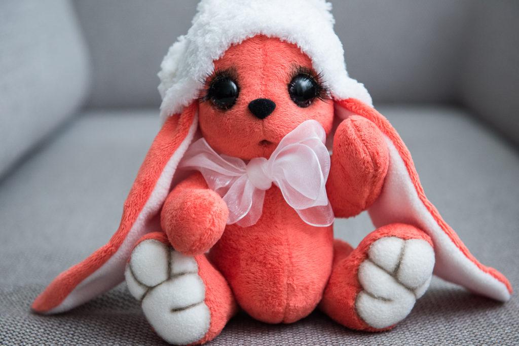 Плюшевая игрушка Тедди - Зайка Апельсинка