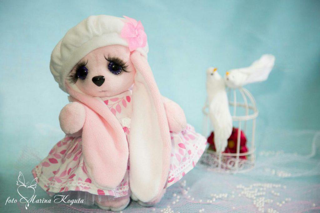 Мягкая игрушка Тедди - Зайка Розочка