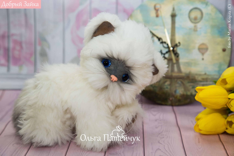 Котенок Облачко - плюшевый котенок